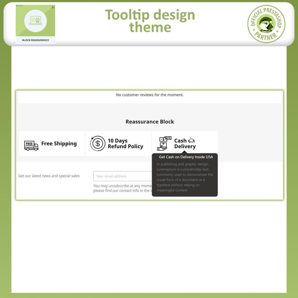 module - Producten op de homepagina - Block Reassurance with Animation - 8