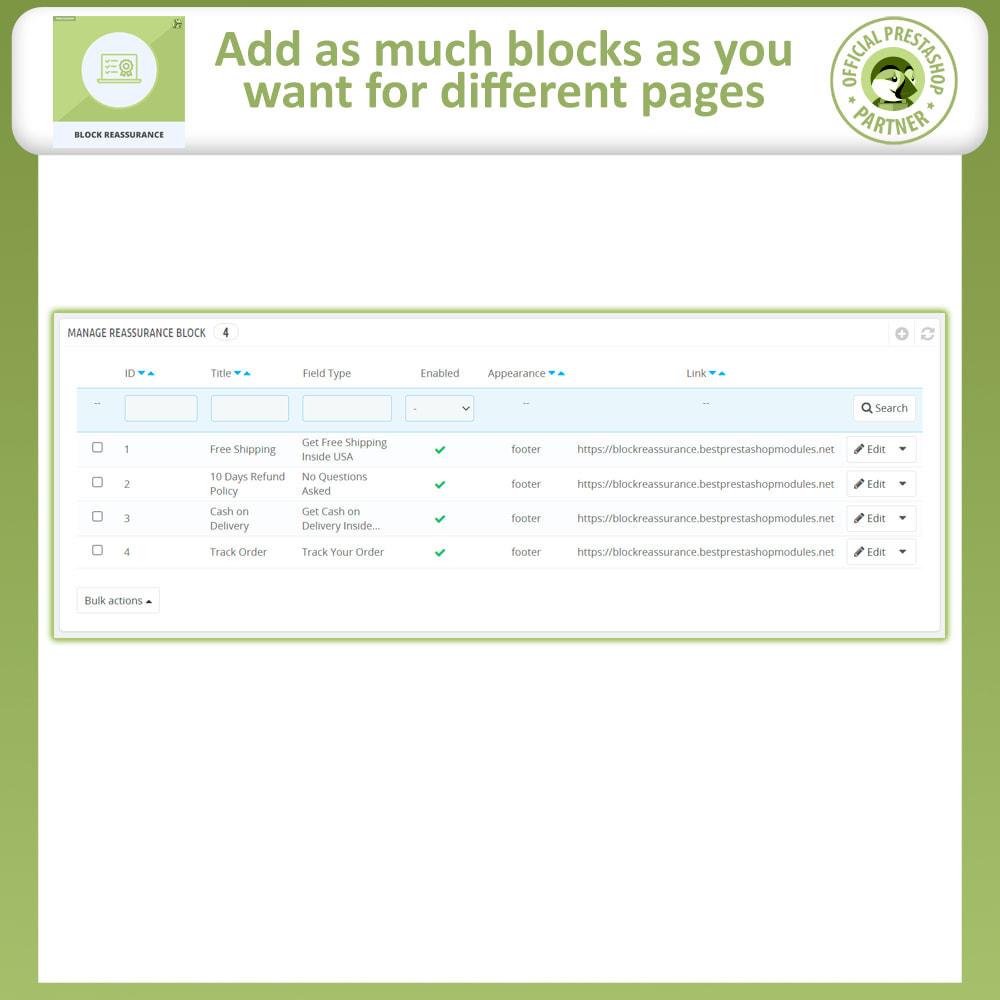 module - Producten op de homepagina - Block Reassurance with Animation - 9