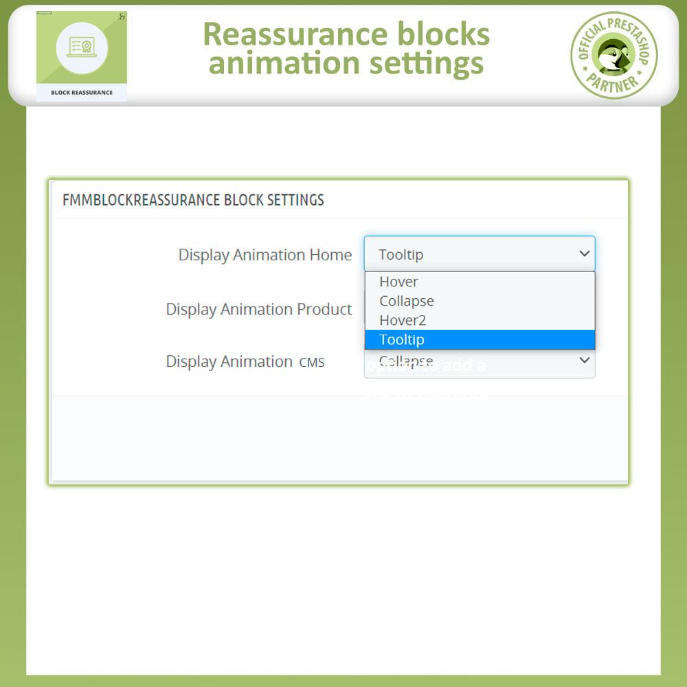 module - Producten op de homepagina - Block Reassurance with Animation - 11