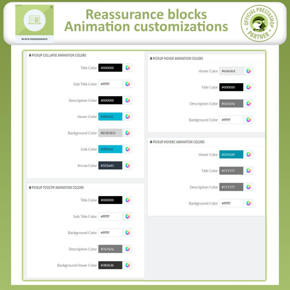 module - Producten op de homepagina - Block Reassurance with Animation - 12