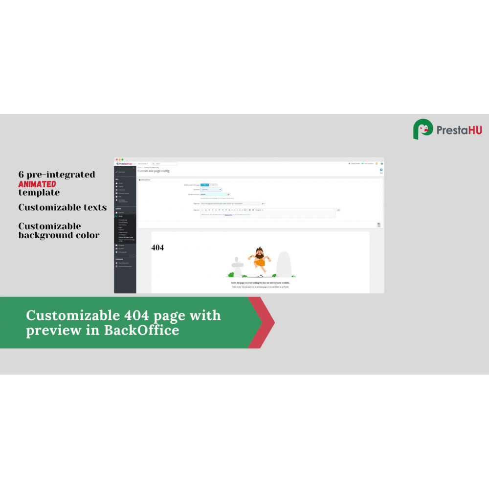 module - Page Customization - 2in1: Winsome 404/PageNotFound and Maintenance page - 2