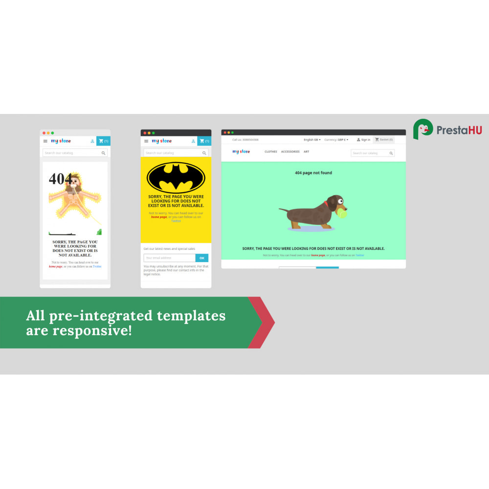 module - Page Customization - 2in1: Winsome 404/PageNotFound and Maintenance page - 3