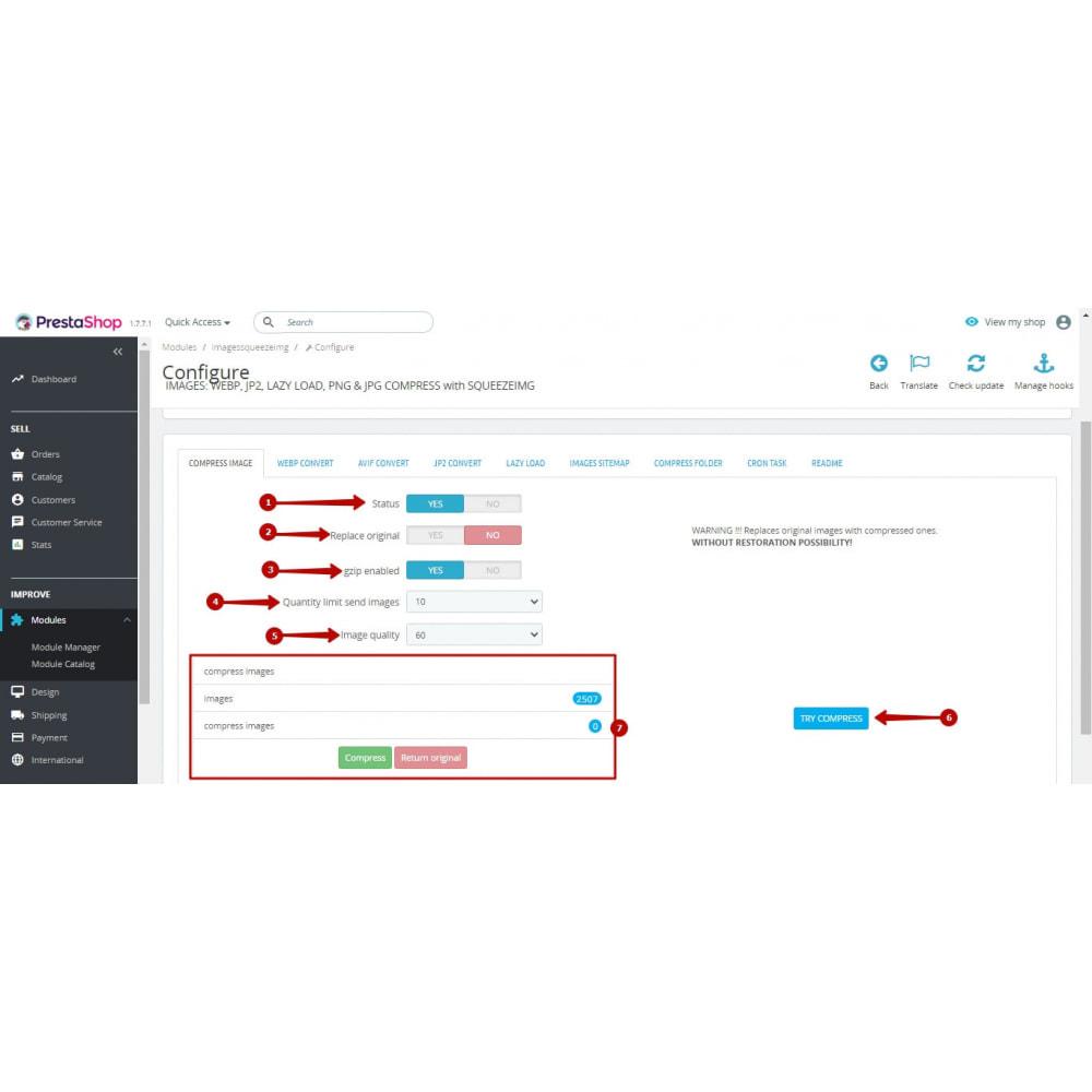 module - Visuels des produits - Image Compress with Squeezeimg + Convert to webp, jp2 - 9