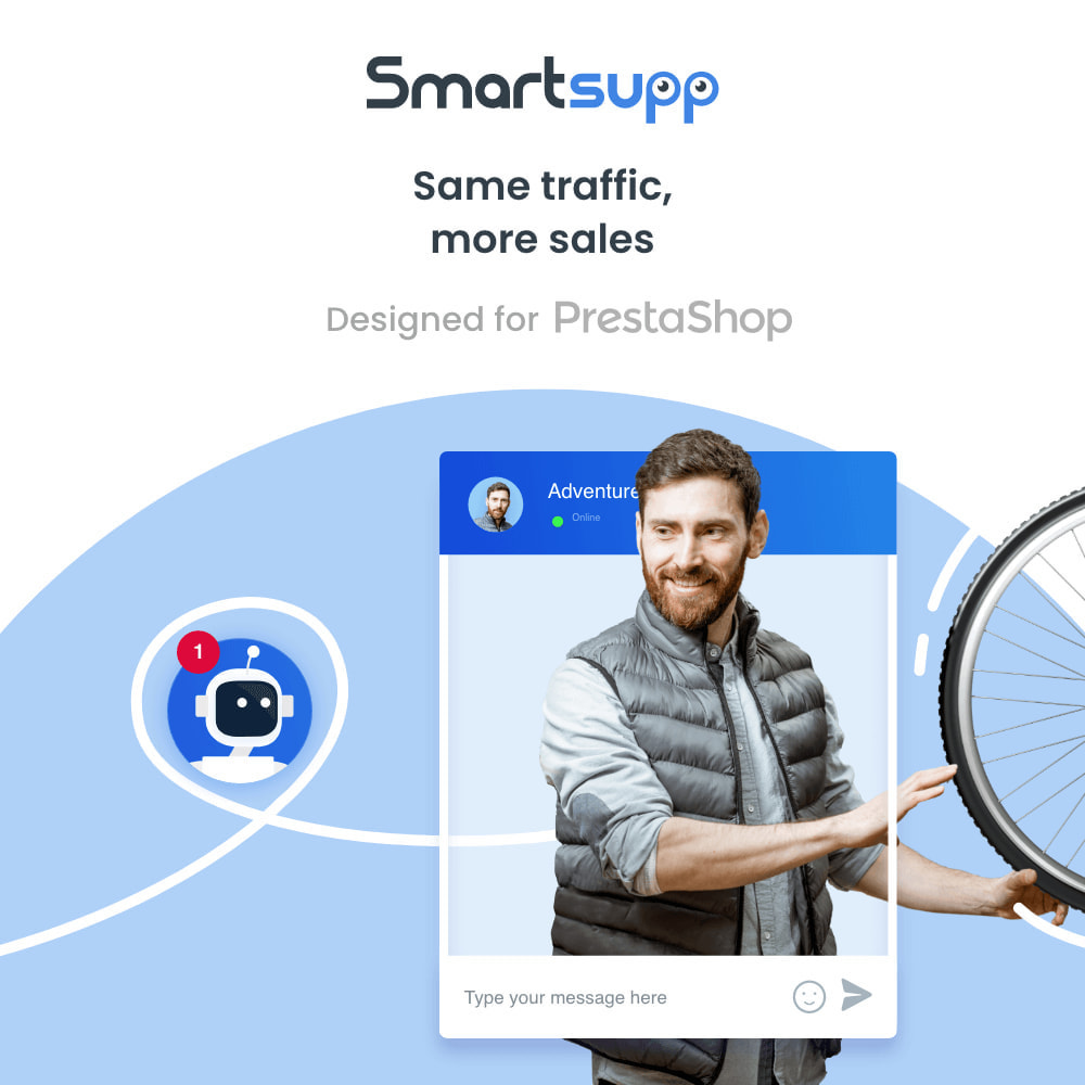 module - Ondersteuning & Online chat - Smartsupp - live chat, chatbots, video opnames - 1