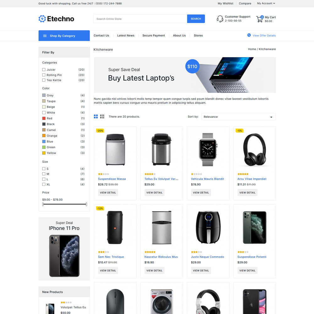 theme - Electrónica e High Tech - Etechno - Electronics Store - 3