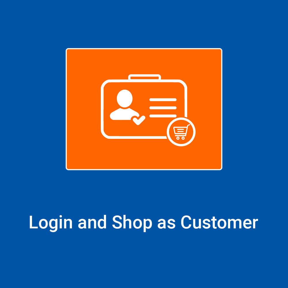 module - Inloggen - Login and Shop as Customer - 1