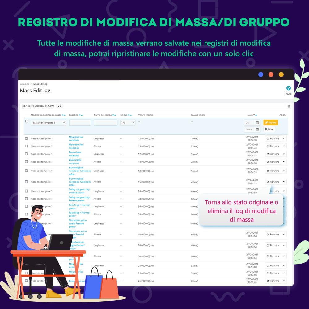module - Modifica rapida & di massa - Product Manager – Modifica di gruppo / modifica rapida - 5