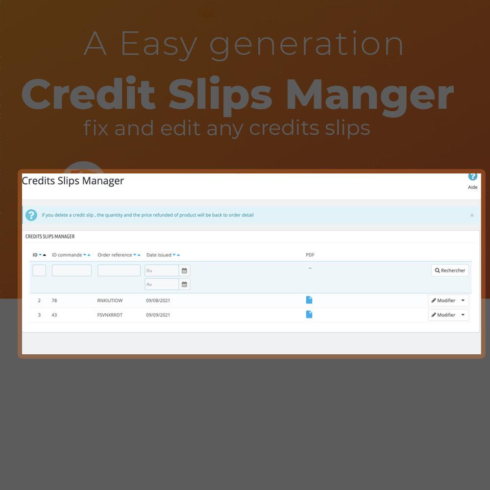module - Servicio posventa - Credit Slips Manager - 3