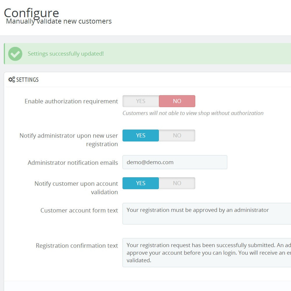 module - Klantendienst - Manually validate new customers - 1