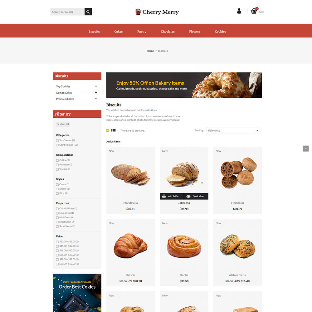 theme - Food & Restaurant - Cherry Merry Online Store - 2