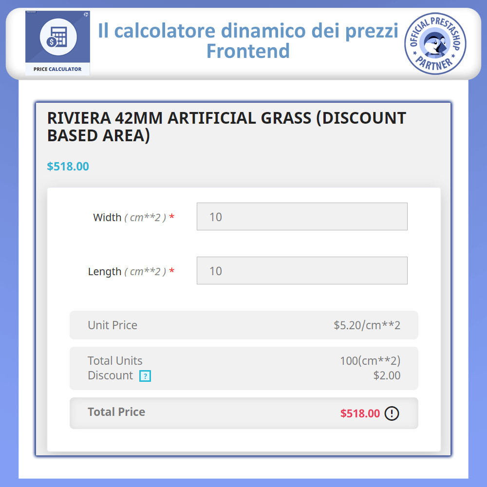 module - Grandezze & Unità di misura - Calcolatore di prezzi dinamico - 3
