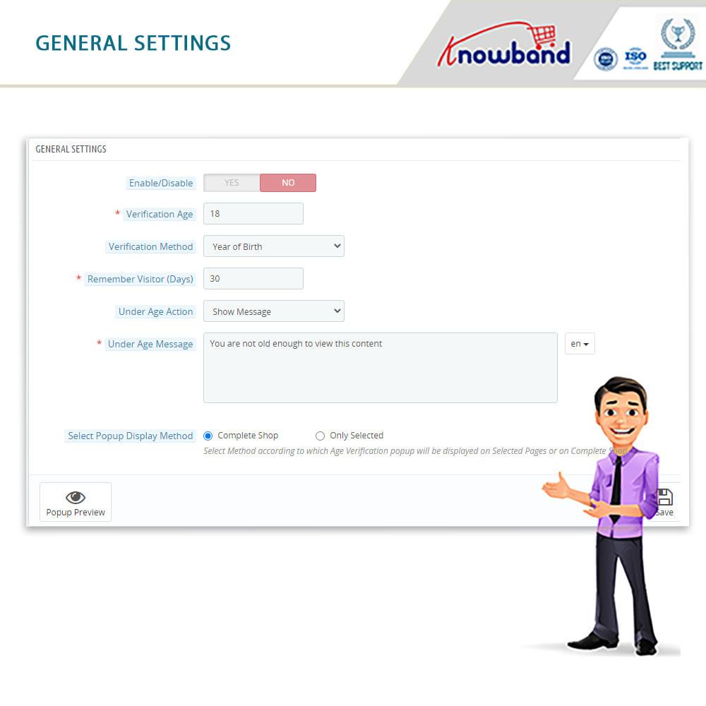 module - Sicherheit & Berechtigungen - Age Verification Popup | 18+ Verification - 3