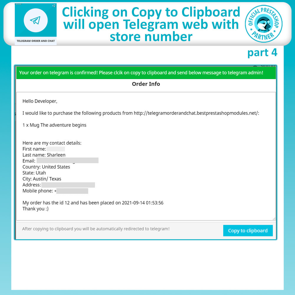 module - Support & Online Chat - Telegram Order and Telegram Chat - 9