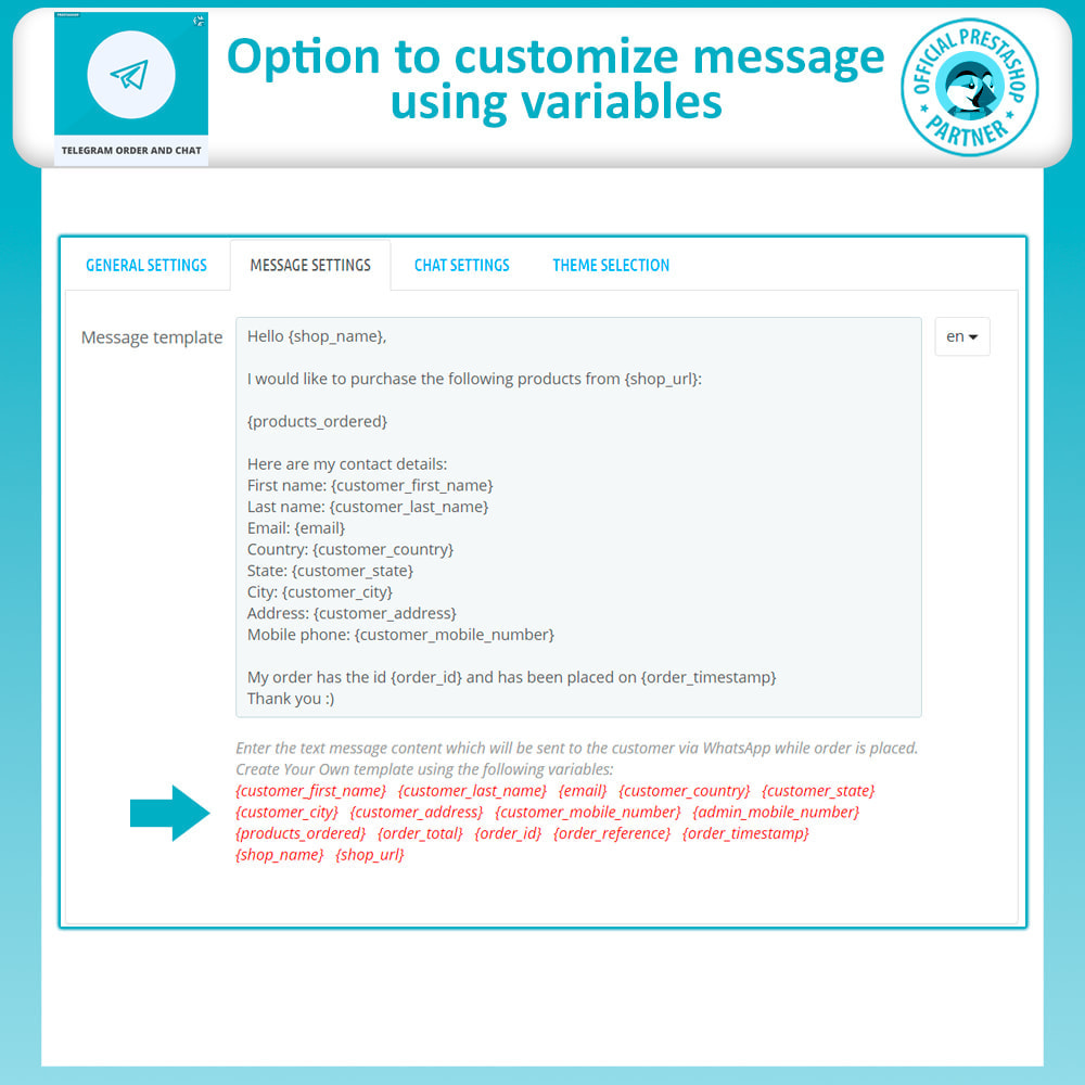 module - Support & Online Chat - Telegram Order and Telegram Chat - 13