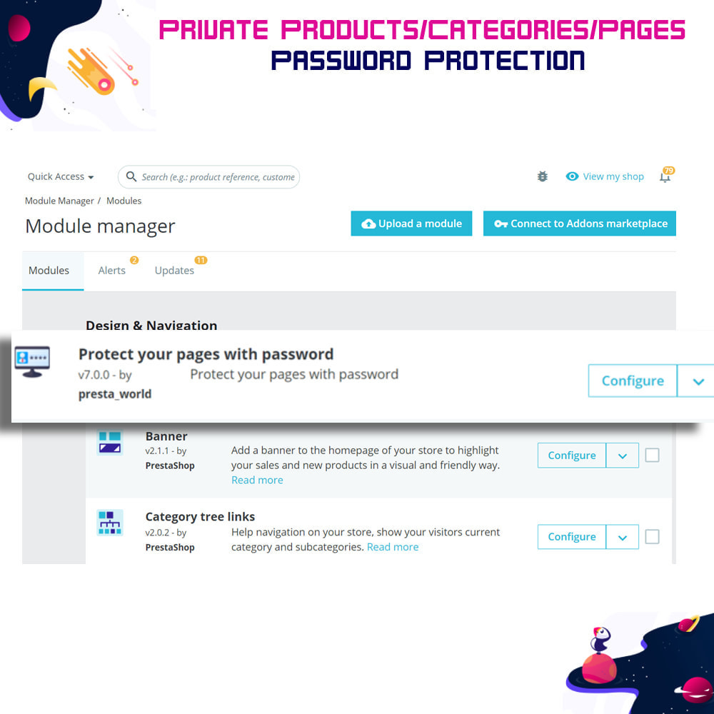 module - Security & Access - Private Products/Categories/Pages- Password Protection - 4