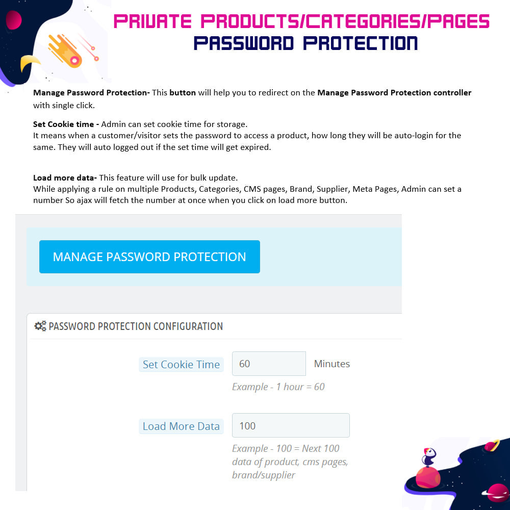 module - Security & Access - Private Products/Categories/Pages- Password Protection - 5