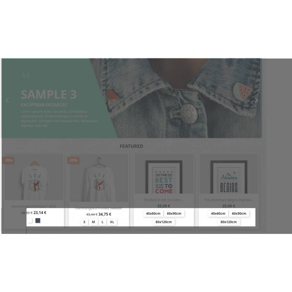 module - Combinations & Product Customization - Show Attributes / Variants in Product List - 1