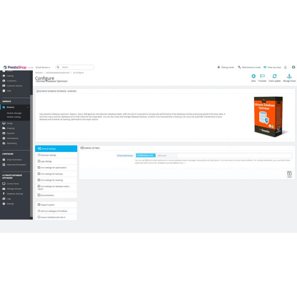 module - Website Performance - Ultimate Database Optimizer - Optimizes and repairs - 9