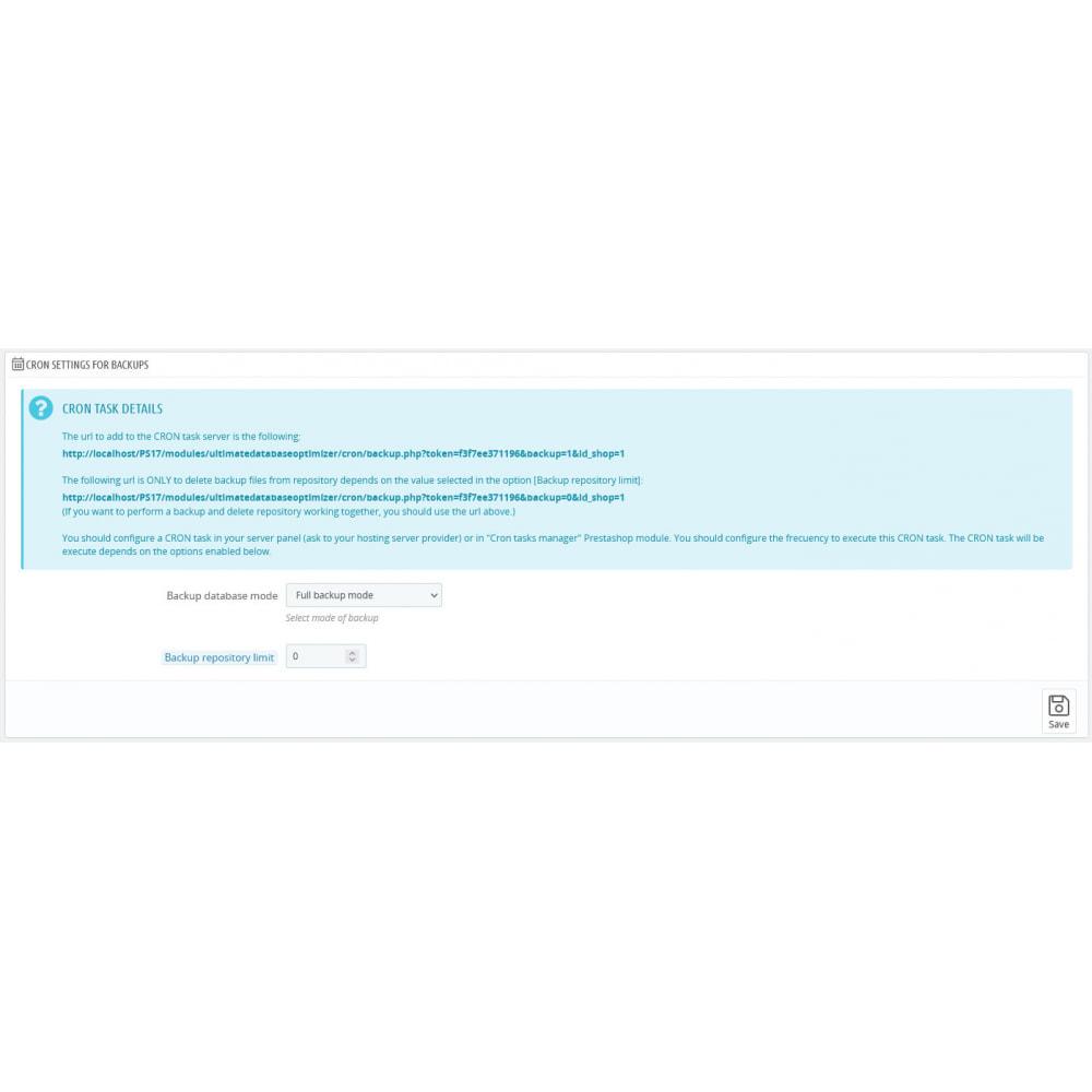 module - Website Performance - Ultimate Database Optimizer - Optimizes and repairs - 14