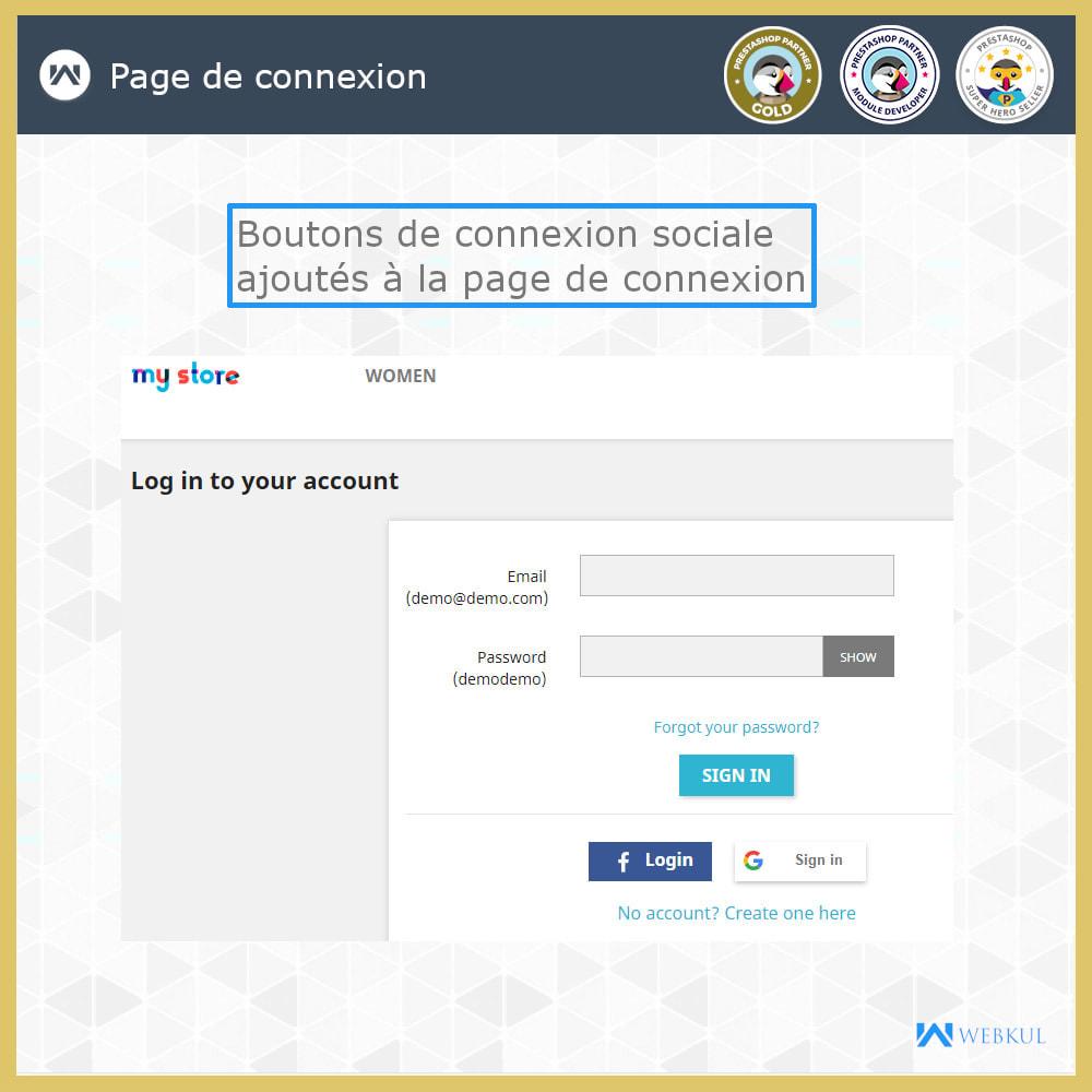 module - Boutons Login & Connect - Social Connexion | Inscription/connexion en un clic - 3