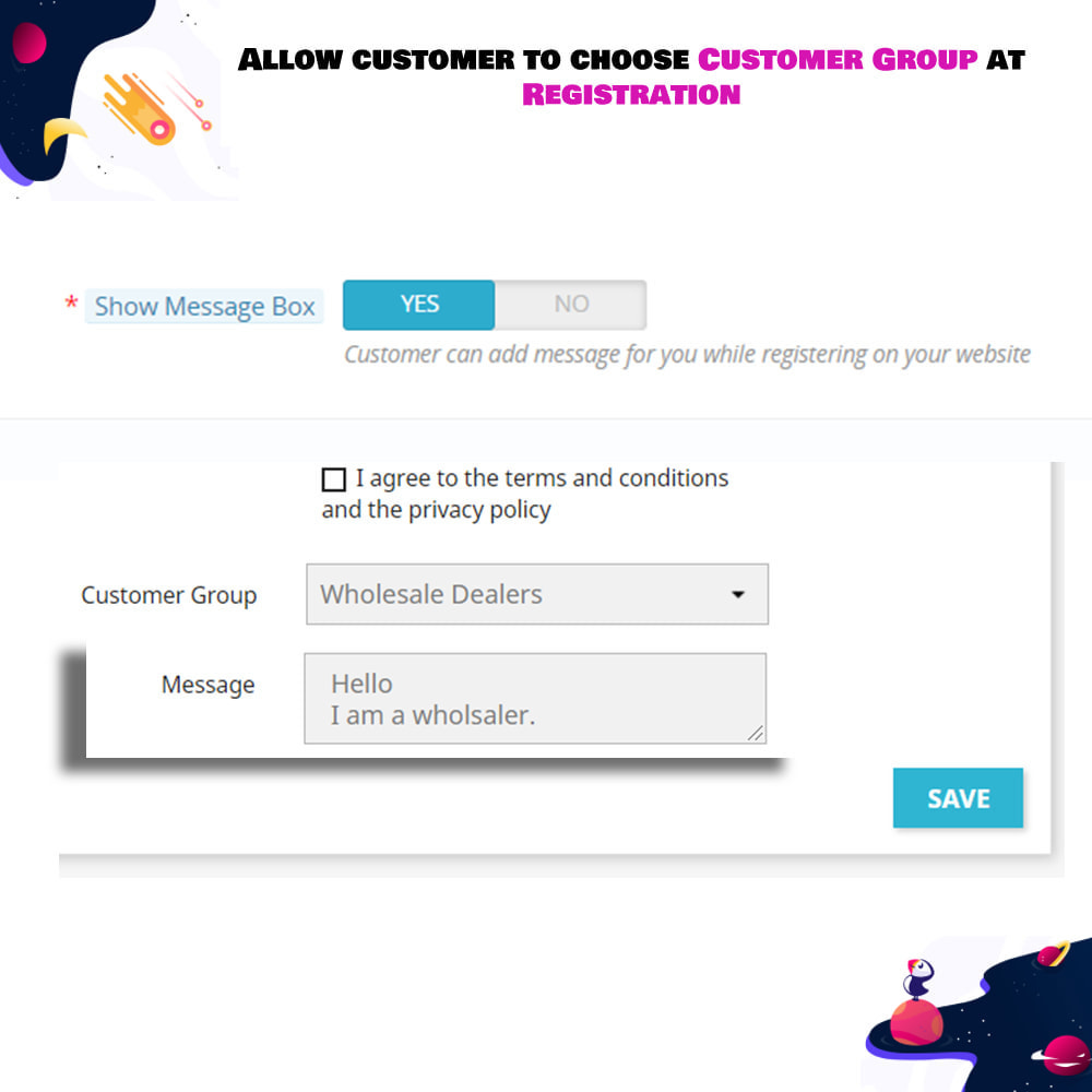module - Customer Administration - Allow customer to choose Customer Group at Registration - 4