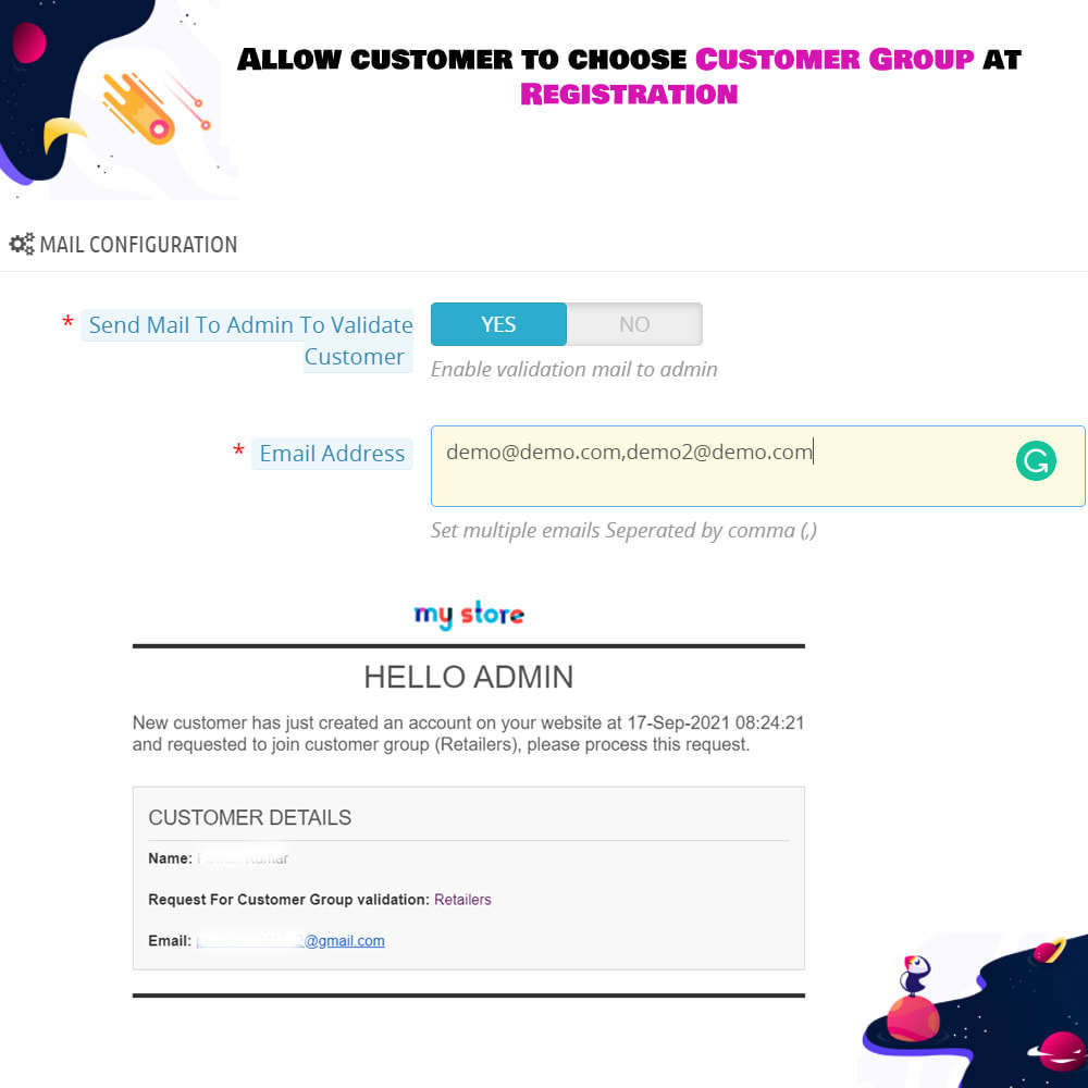 module - Customer Administration - Allow customer to choose Customer Group at Registration - 5