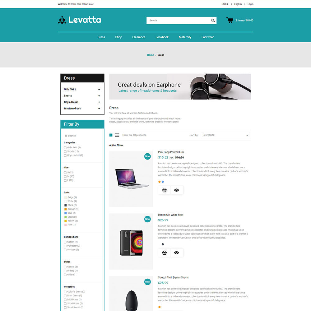 theme - Electronics & Computers - Levatta Electronics Online Store - 4