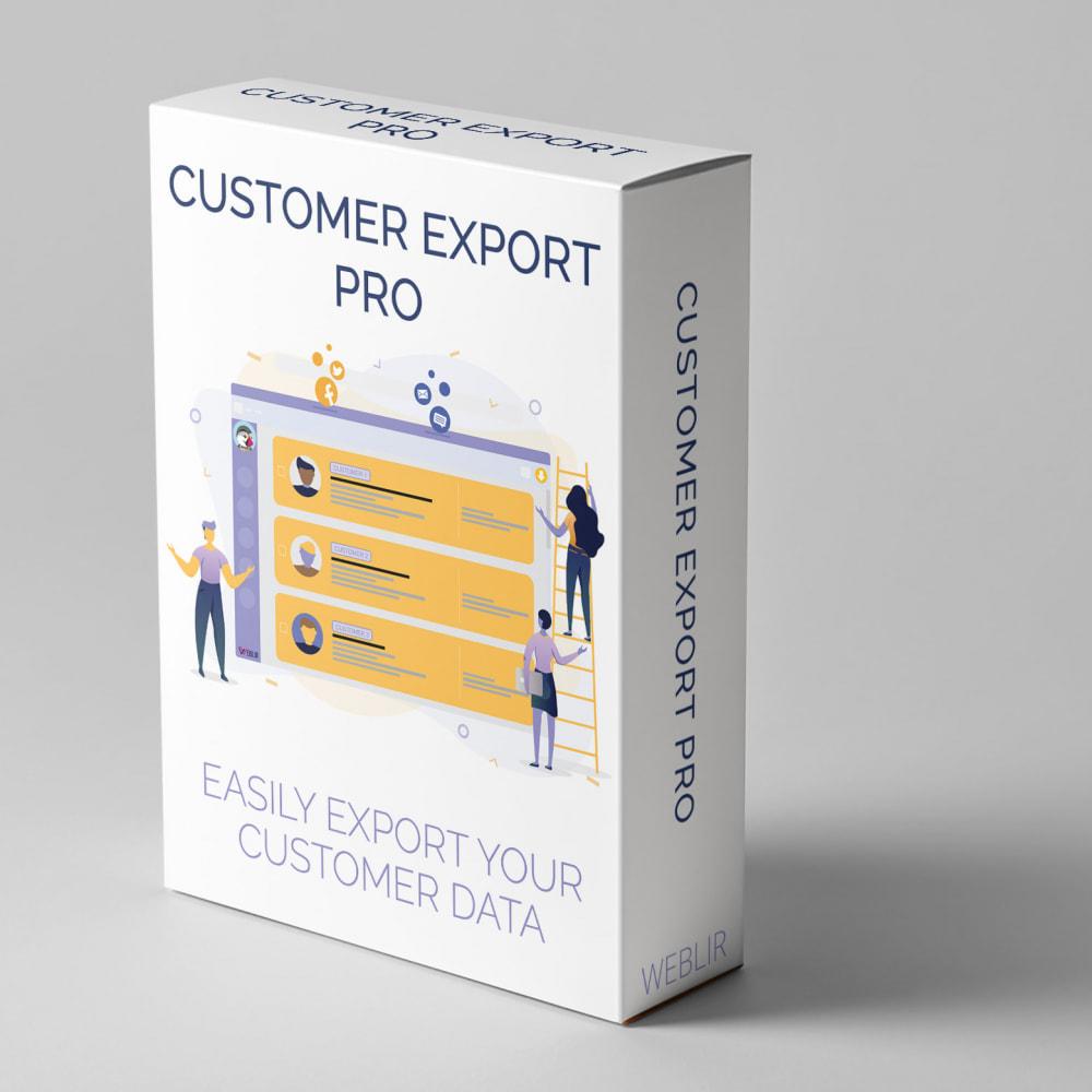 module - Data Import & Export - Customer Export PRO - Easily export customer data - 1