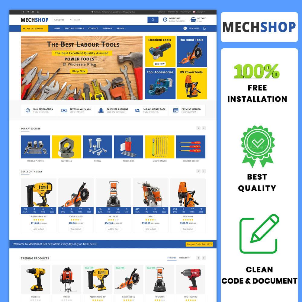 theme - Automotive & Cars - MechShop PowerTools, Spare Part, Mechanic, Bike and car - 1