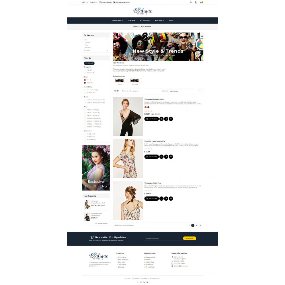 theme - Mode & Chaussures - Boutique - Fashion & Style - 5