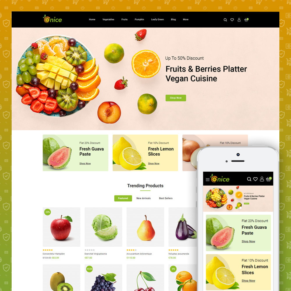 theme - Food & Restaurant - Onice - Fruits & Vegetables Store - 1