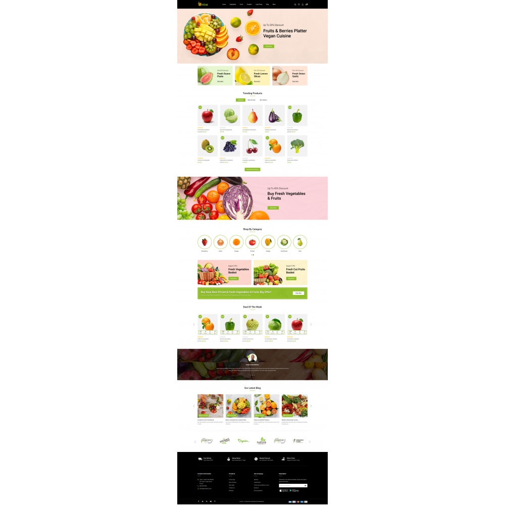theme - Food & Restaurant - Onice - Fruits & Vegetables Store - 2