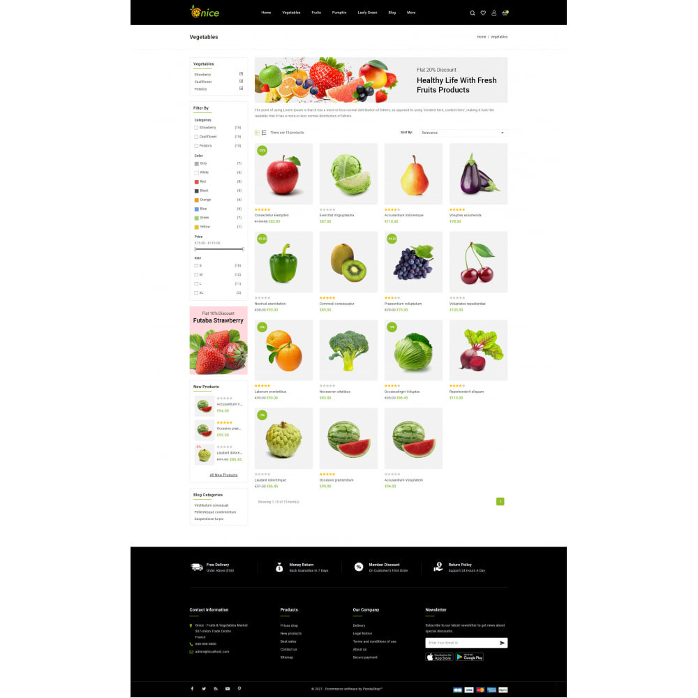 theme - Food & Restaurant - Onice - Fruits & Vegetables Store - 3