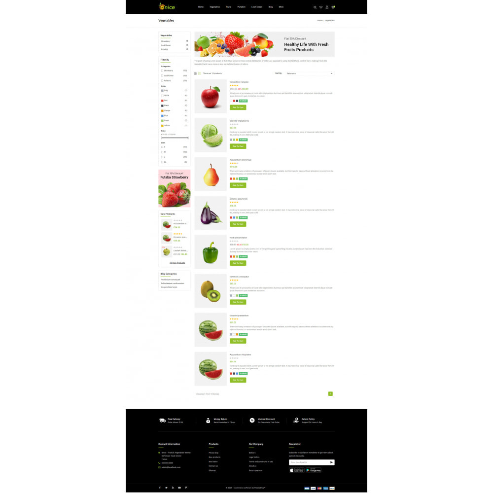 theme - Food & Restaurant - Onice - Fruits & Vegetables Store - 4