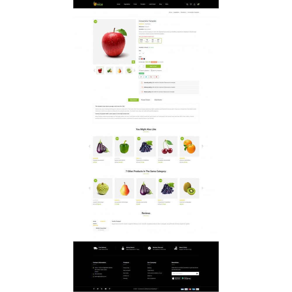 theme - Food & Restaurant - Onice - Fruits & Vegetables Store - 5