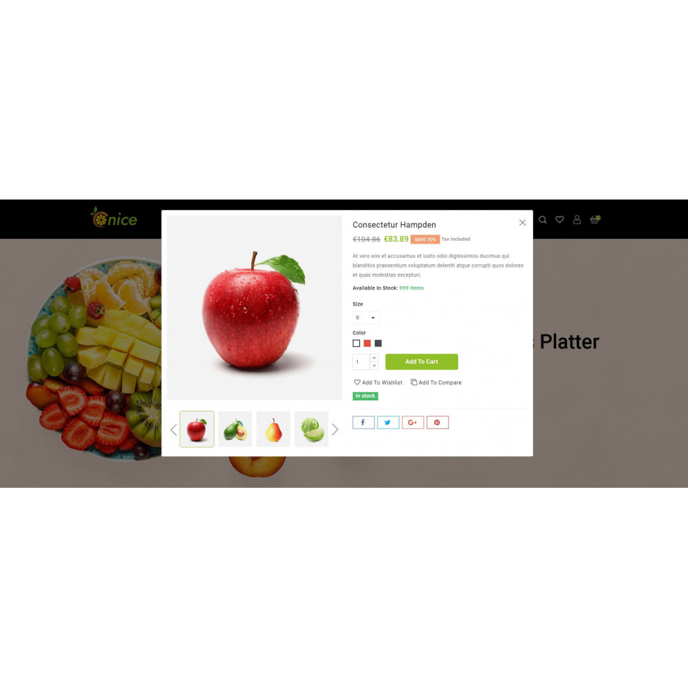 theme - Food & Restaurant - Onice - Fruits & Vegetables Store - 6