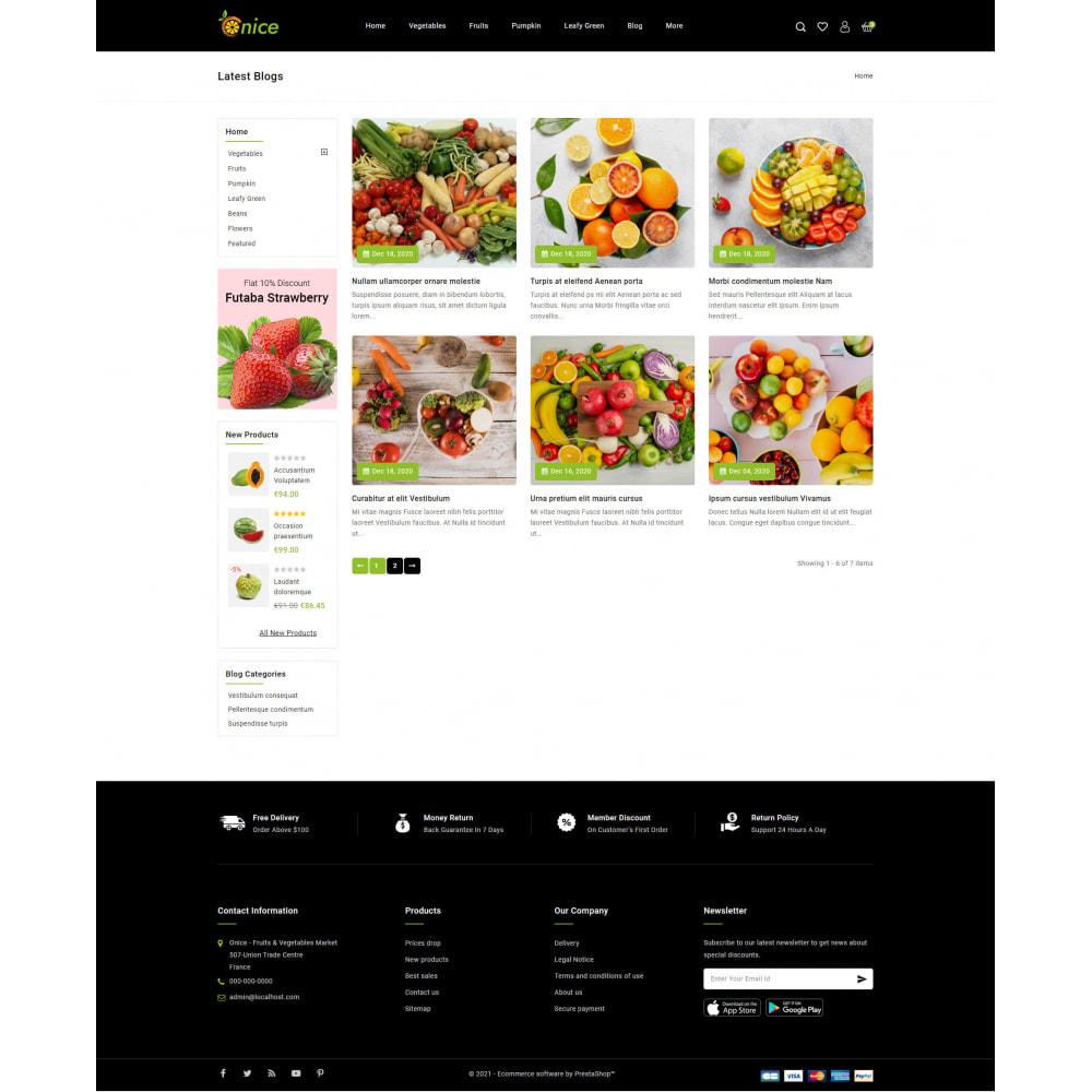 theme - Food & Restaurant - Onice - Fruits & Vegetables Store - 9