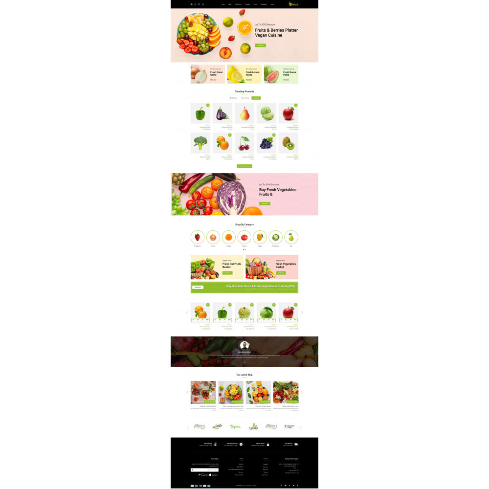 theme - Food & Restaurant - Onice - Fruits & Vegetables Store - 10