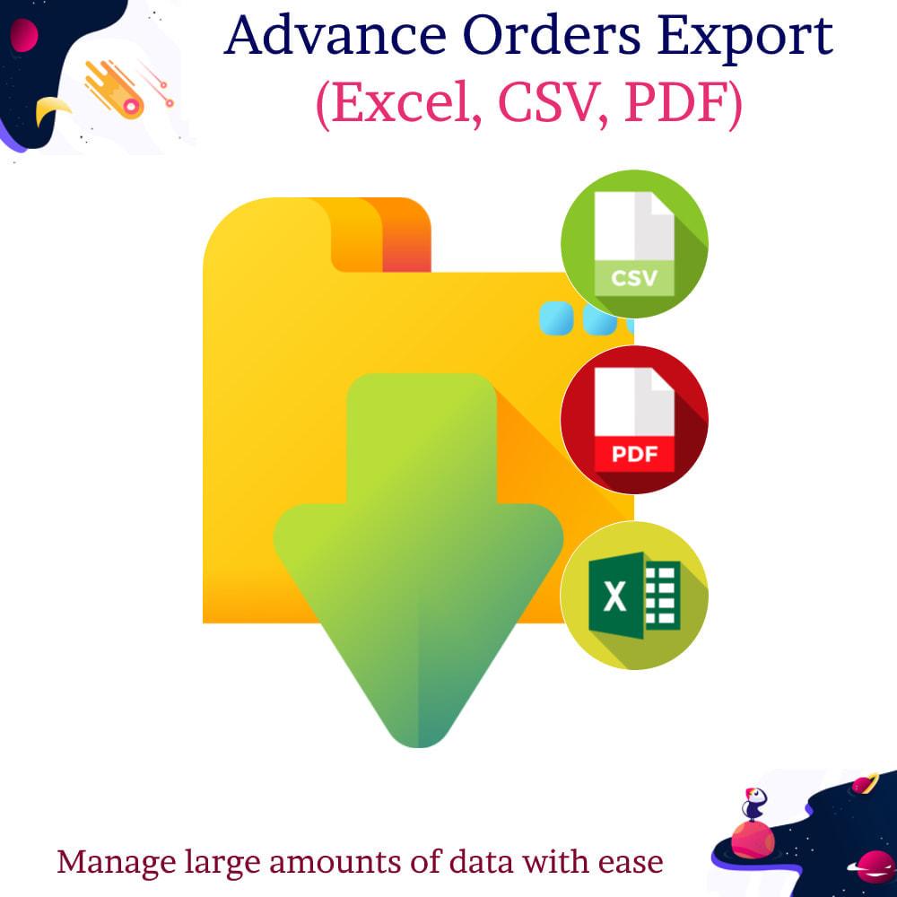 module - Import & Eksport danych (csv, pdf...) - Advance Orders Export (Excel, CSV, PDF) - 1