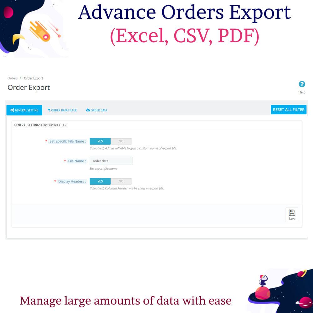 module - Import & Eksport danych (csv, pdf...) - Advance Orders Export (Excel, CSV, PDF) - 5
