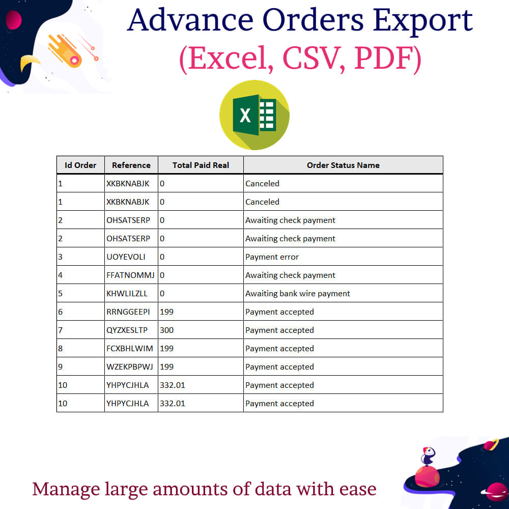 module - Import & Eksport danych (csv, pdf...) - Advance Orders Export (Excel, CSV, PDF) - 8