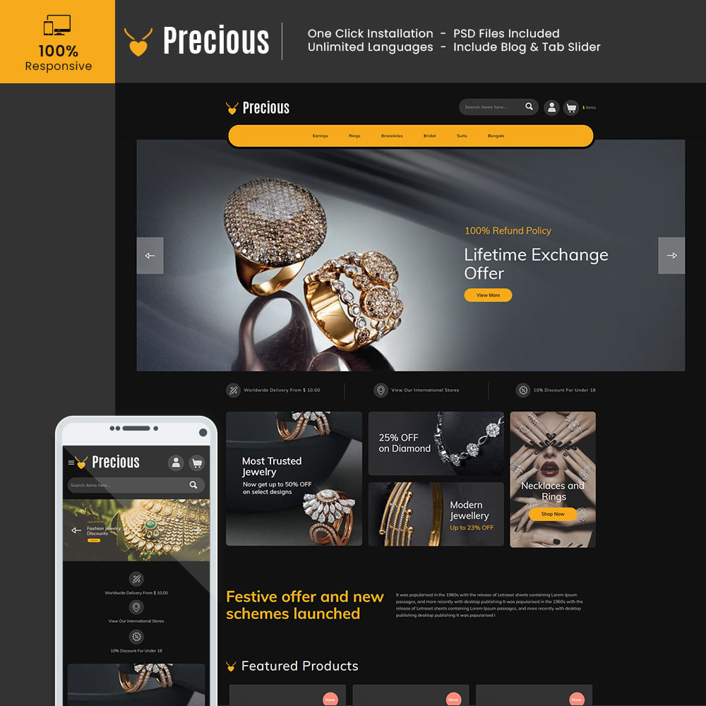 theme - Jewelry & Accessories - Jewellery Diamond Gold Silver - Precious Jewellery - 1