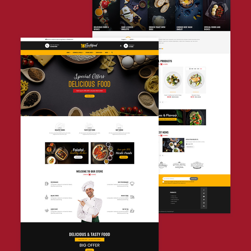 theme - Food & Restaurant - Gusto Food & Restaurants - 2