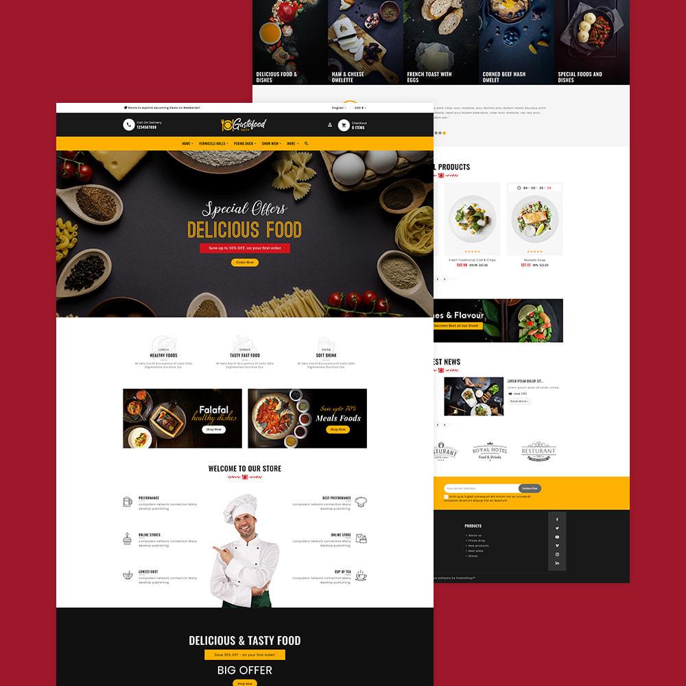 theme - Alimentation & Restauration - Gusto Food & Restaurants - 3