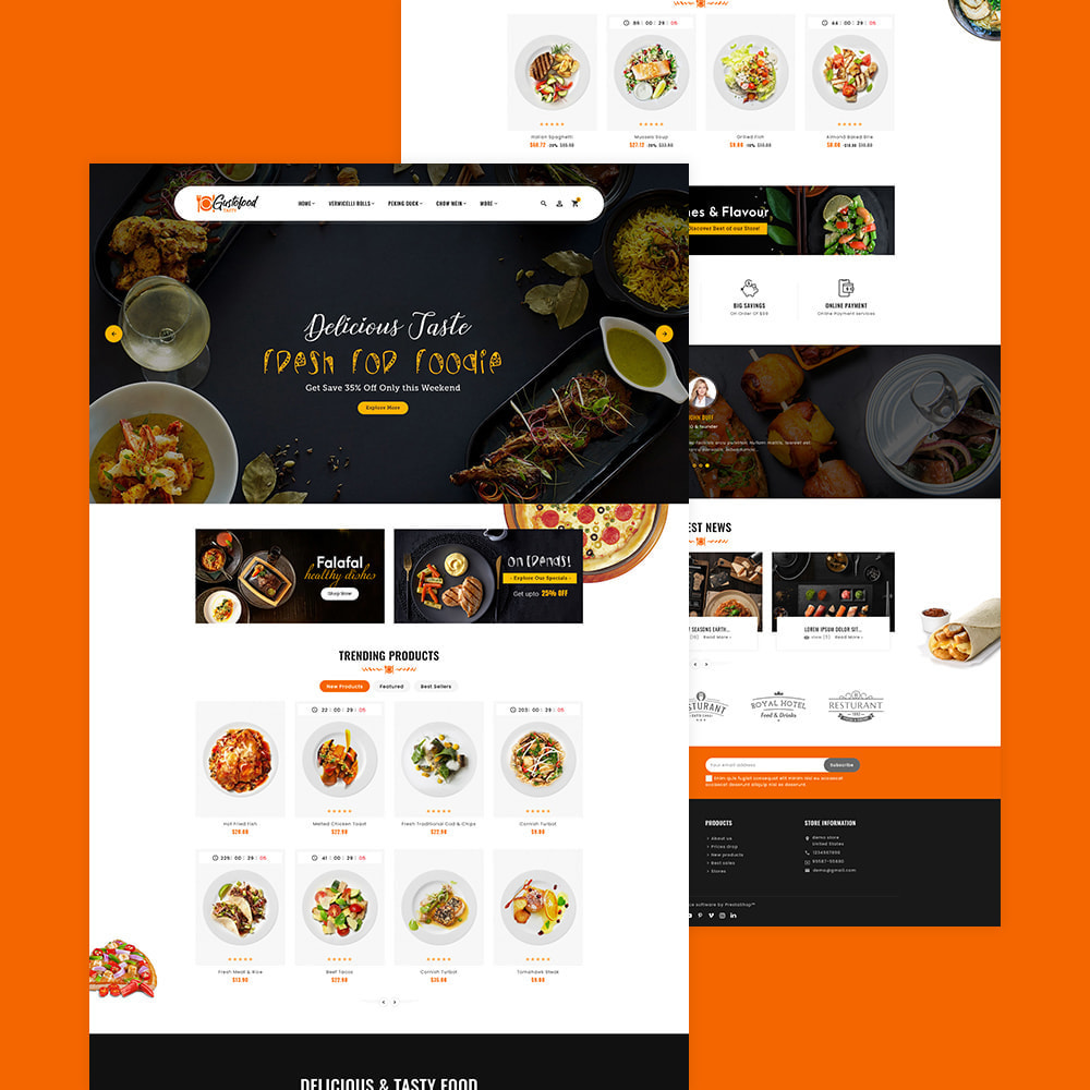 theme - Alimentation & Restauration - Gusto Food & Restaurants - 5
