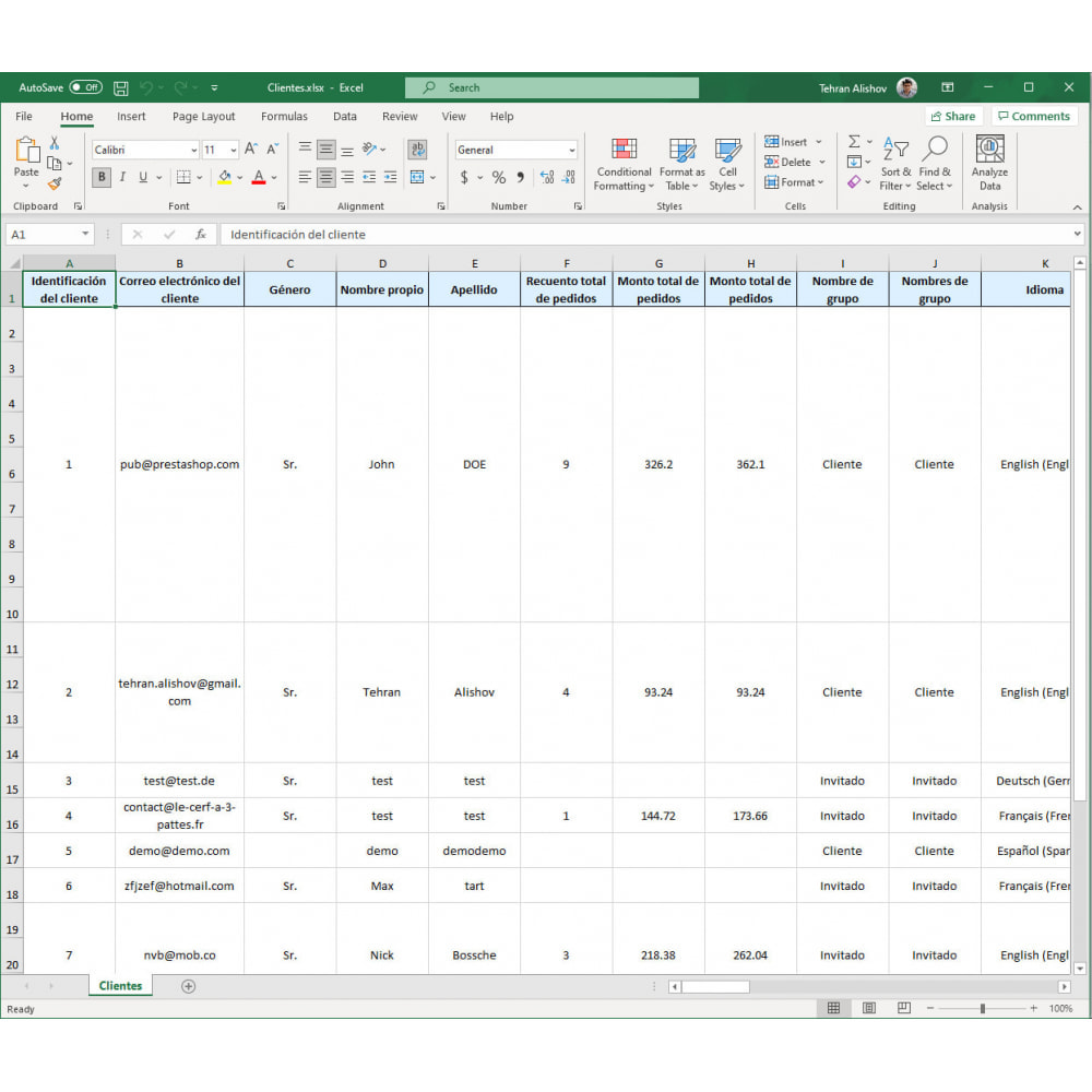 module - Importación y Exportación de datos - Exportación de Clientes Pro (Excel, CSV, XML, PDF) - 7
