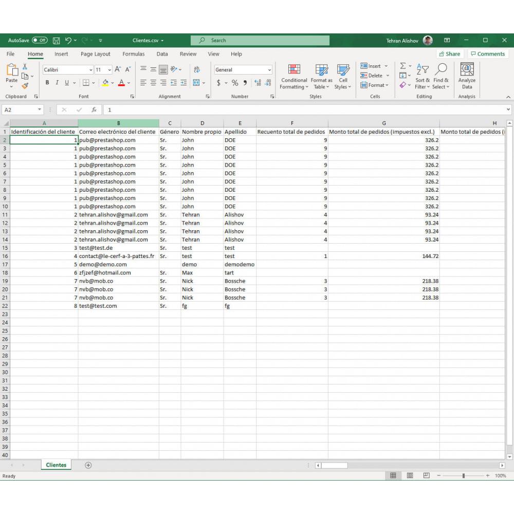 module - Importación y Exportación de datos - Exportación de Clientes Pro (Excel, CSV, XML, PDF) - 8