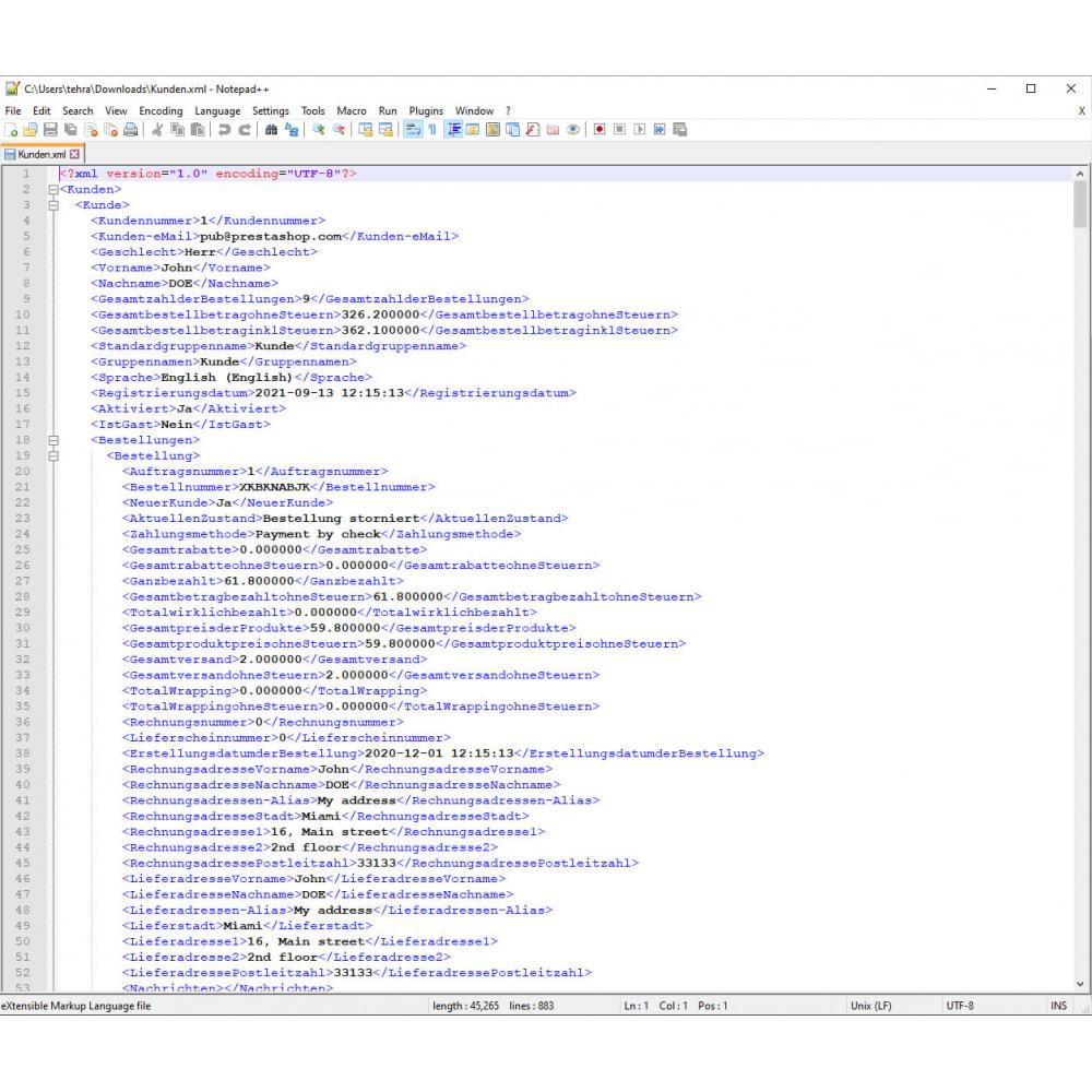 module - Daten Im-&Export - Kunden Export Pro (Excel, CSV, XML, PDF) - 9