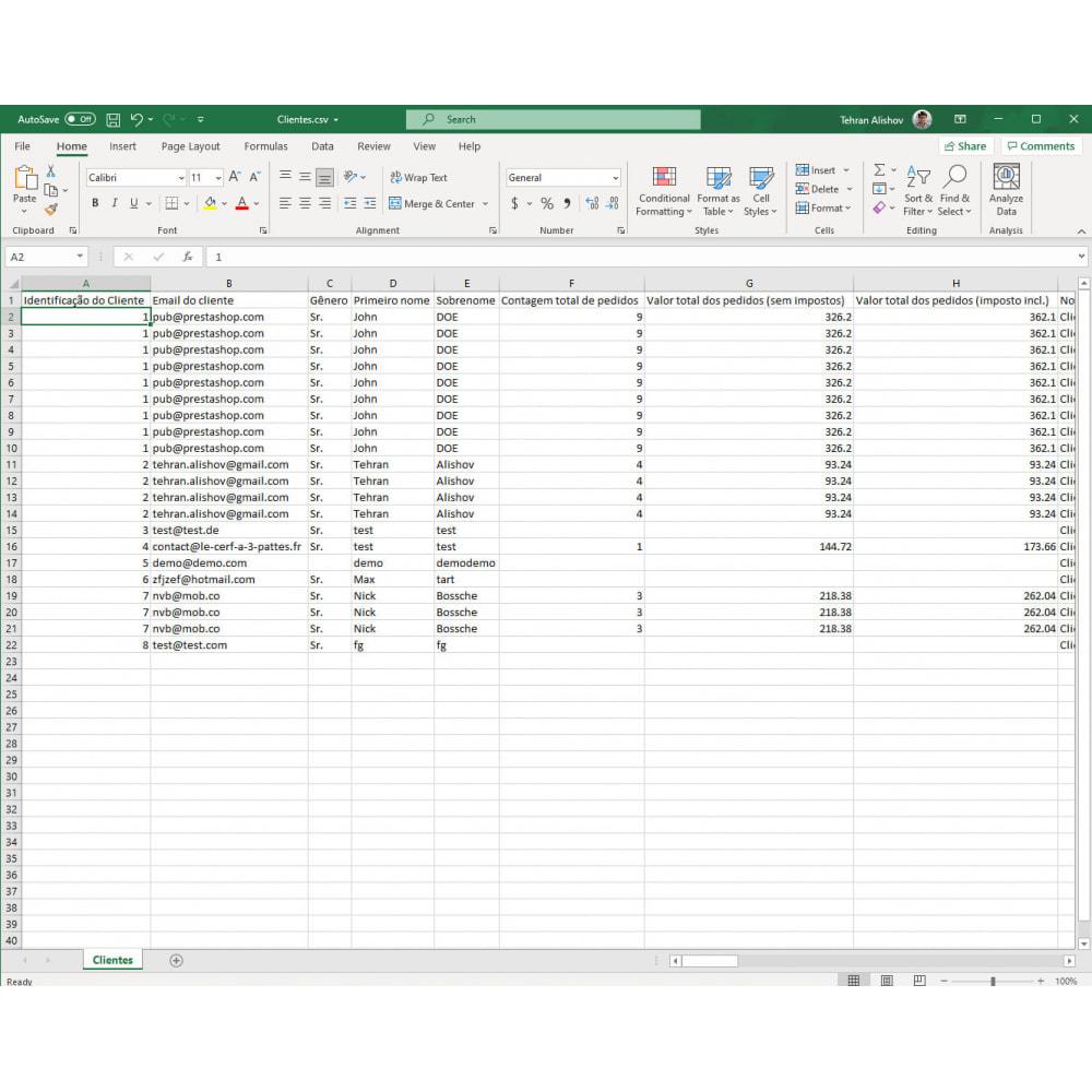 module - Importação & exportação de dados - Exportação de Clientes Pro (Excel, CSV, XML, PDF) - 8
