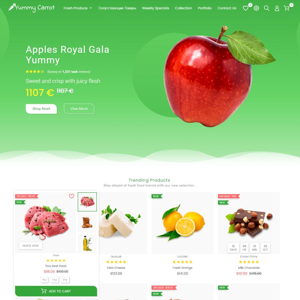theme - Alimentos & Restaurantes - Yummy Carrot - Food & Restaurant, Organic, Wine, Coffee - 2